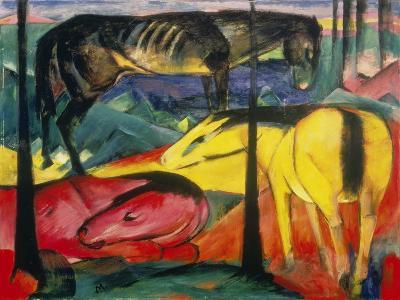 Three Horses, 1913-Franz Marc-Giclee Print