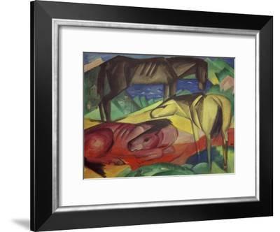 Three Horses II-Franz Marc-Framed Giclee Print