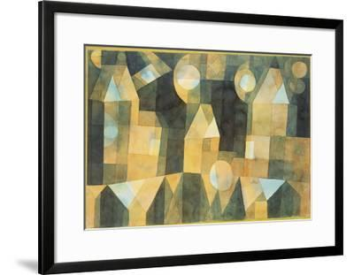 Three Houses and a Bridge; Drei Hauser an Der Brucke-Paul Klee-Framed Giclee Print