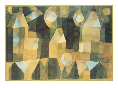 Three Houses and a Bridge; Drei Hauser an Der Brucke-Paul Klee-Giclee Print