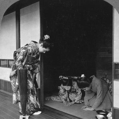 Three Japanese Women, Japan, 1905-BL Singley-Photographic Print