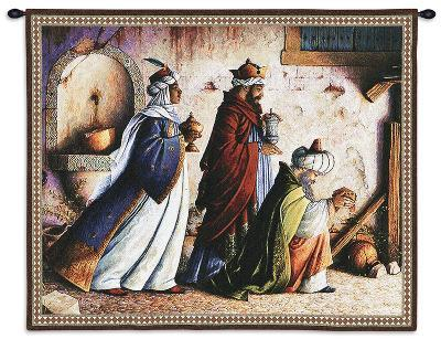 Three Kings and a Fountain-Lynn Bywaters-Wall Tapestry