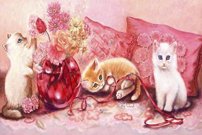 Three Kittens-Judy Mastrangelo-Giclee Print