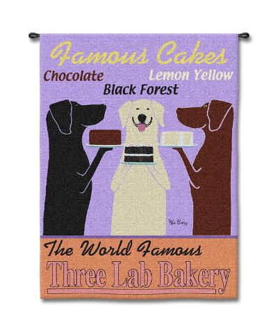 Three Lab Bakery-Ken Bailey-Wall Tapestry