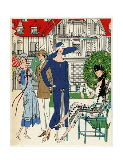 Three Ladies in Outfits by Jeanne Lanvin--Giclee Print