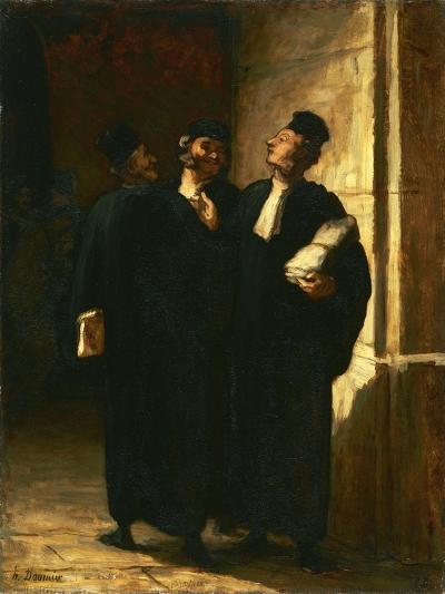 Three Lawyers-Honor? Daumier-Giclee Print