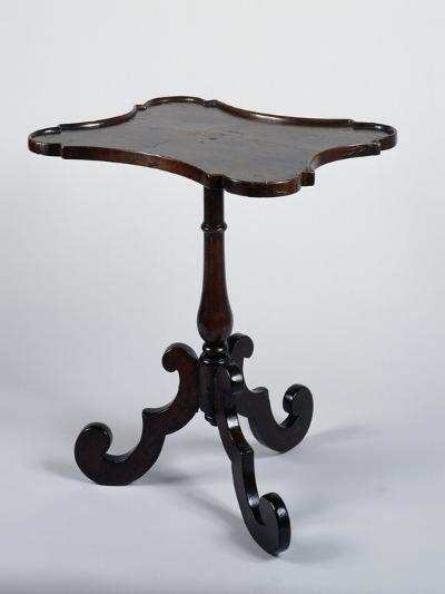 Three Legged Walnut Table, Italy--Giclee Print