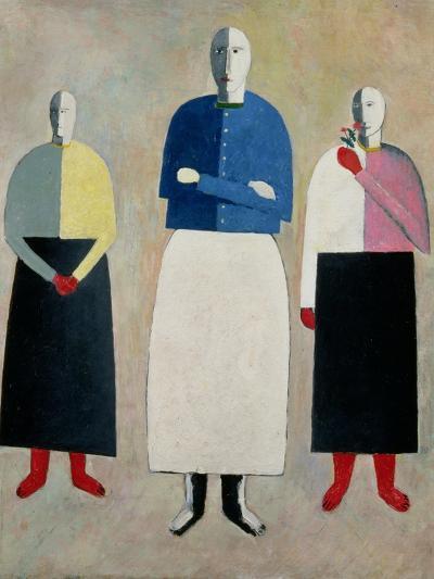 Three Little Girls, 1928-32-Kasimir Malevich-Giclee Print
