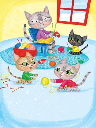 Three Little Kittens - Turtle-Elisa Chavarri-Giclee Print