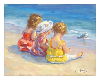 Three Little Maids-Lucelle Raad-Art Print