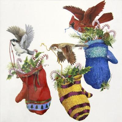 Three Little Mittens--Giclee Print