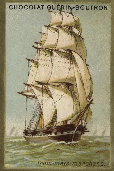 Three-Masted Merchant Ship--Giclee Print