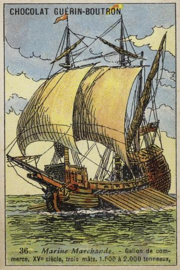 Three-Masted Trading Galleon, 15th Century--Giclee Print