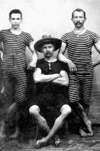 Three Men are Ready to Swim, Ca. 1885