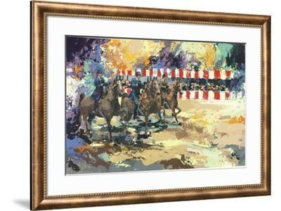 Three Men on Horseback-Wayland Moore-Framed Serigraph