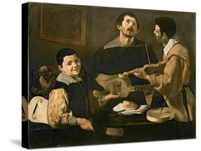 Three Musicians, 1618-Diego Velazquez-Stretched Canvas Print