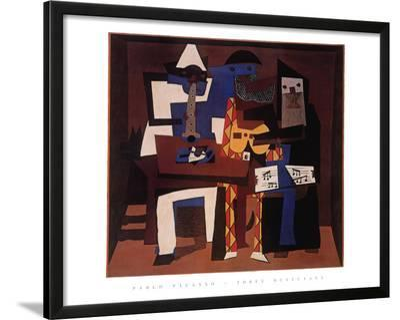 Three Musicians, c.1921-Pablo Picasso-Framed Art Print