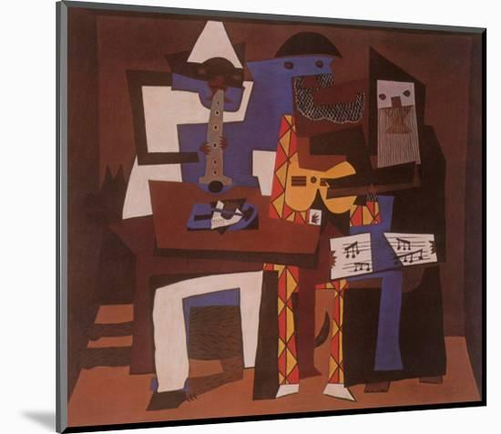 Three Musicians, c.1921-Pablo Picasso-Mounted Print
