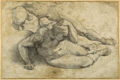 Three Nudes in Attitudes of Terror-Raphael-Giclee Print