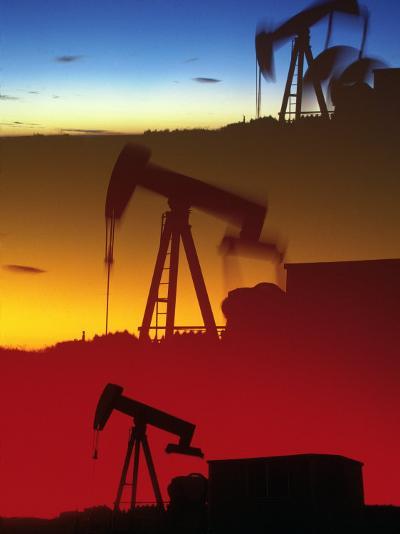 Three Oil Pumps, Colorado-Chris Rogers-Photographic Print