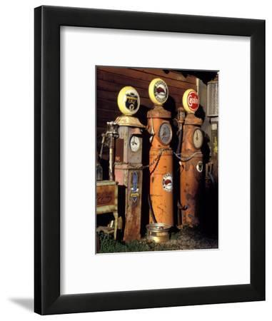 Three Old Gas Pumps-Charles Benes-Framed Photographic Print