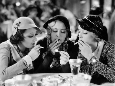 Three On A Match, Ann Dvorak, Joan Blondell, Bette Davis, 1932--Photo