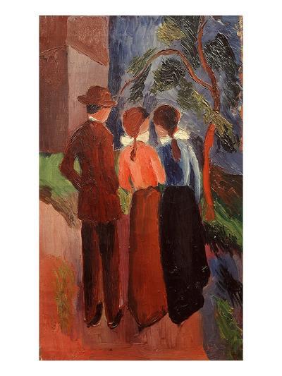 Three on a Walk, 1914-Auguste Macke-Giclee Print