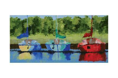 Three on the Bay-Leslie Saeta-Art Print
