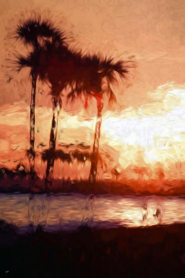 Three Palms - In the Style of Oil Painting-Philippe Hugonnard-Giclee Print