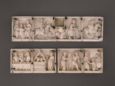 Three Panels of a Box: the Story of the Prodigal Son--Giclee Print