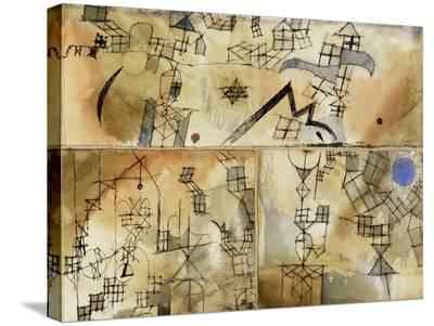 Three-Part Composition-Paul Klee-Stretched Canvas Print