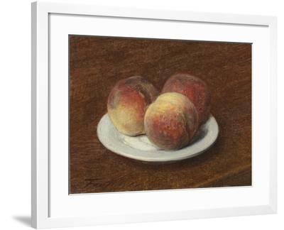 Three Peaches on a Plate, 1868-Ignace Henri Jean Fantin-Latour-Framed Giclee Print