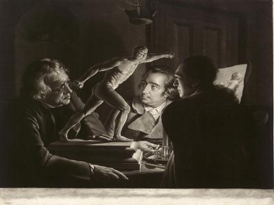 Three Persons Viewing the Gladiator by Candlelight, Engraved by William Pether, 1769-Joseph Wright of Derby-Giclee Print