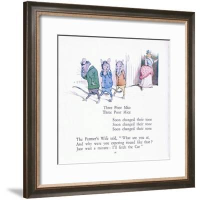 Three Poor Mice, Three Poor Mice, Soon Changed their Tune-Walton Corbould-Framed Giclee Print