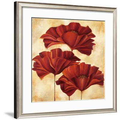 Three Poppies II-Nicola Rabbett-Framed Art Print