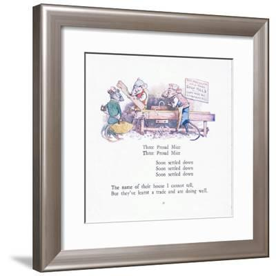 Three Proud Mice, Three Proud Mice, Soon Settled Down Colour-Walton Corbould-Framed Giclee Print