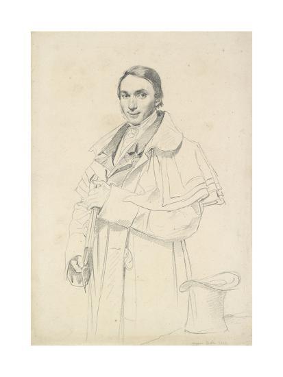 Three-Quarter-Length Portrait of Jean-Francois-Antoine Forest (Graphite on White Wove Paper)-Jean Auguste Dominique Ingres-Giclee Print