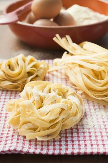 Three Ribbon Pasta Nests-Foodcollection-Photographic Print