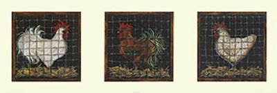 Three Roosters-Jessica Fries-Art Print