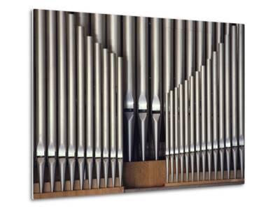 Three Rows of Organ Pipes-Kenneth Garrett-Metal Print