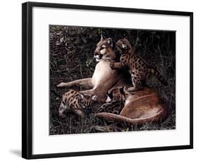 Three's A Crowd-Terry Isaac-Framed Art Print