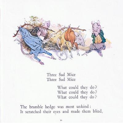 Three Sad Mice, Three Sad Mice, What Could They Say-Walton Corbould-Giclee Print