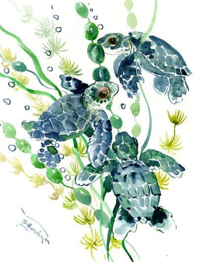Three Sea Turtles-Suren Nersisyan-Art Print