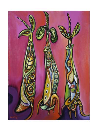 Three Seedlings (On Magenta) 2005-Xavier Cortada-Giclee Print