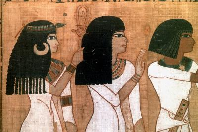 Three Sisters, Detail from an Ancient Egyptian Mural--Giclee Print