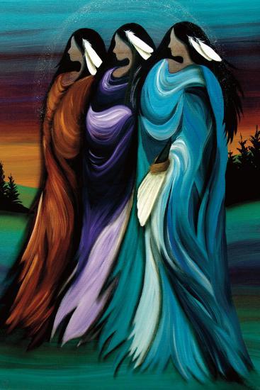 Three Sisters-Betty Albert-Art Print
