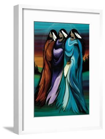 Three Sisters-Betty Albert-Framed Art Print