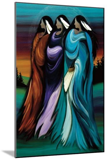 Three Sisters-Betty Albert-Mounted Print
