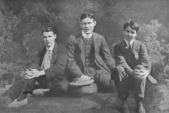 'Three Soldier Brothers', c1913, (1917)-Unknown-Photographic Print