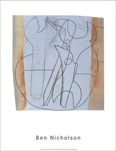 Three Spanners and Four Holes, c.1973-Ben Nicholson-Serigraph